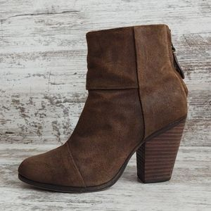 Rag & Bone Burnished Suede Leather Boot